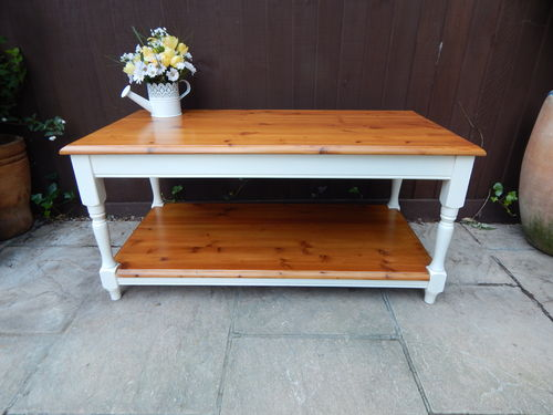 BEAUTIFUL, SHABBY CHIC, SOLID PINE COFFEE TABLE # # SOLD # #