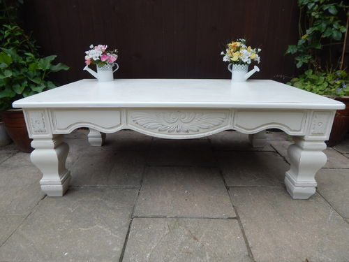 SHABBY CHIC , LARGE FRENCH COUNTRY COFFEE TABLE # # # SOLD # # #