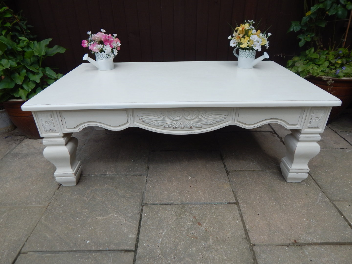 SHABBY CHIC LARGE FRENCH COUNTRY COFFEE TABLE SOLD
