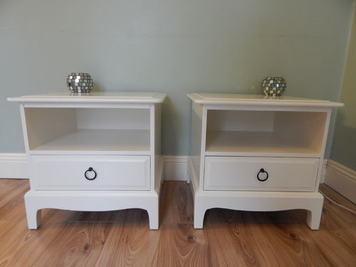 GORGEOUS PAIR OF STAG MINSTRAL BEDSIDE CABINETS # # SOLD # #