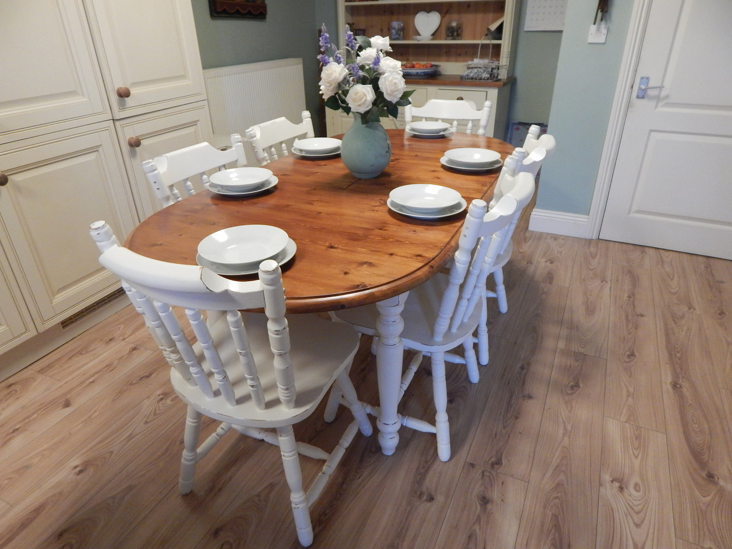 Gorgeous Shabby Chic Solid Pine Extending Table Amp 6 Chairs