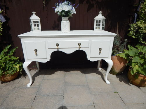 SHABBY CHIC QUEEN ANNE STYLE SIDEBOARD / BUFFET / DRESSER IN MAHOGANY & PINE# # # SOLD # # #