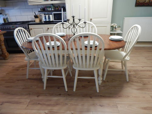 GORGEOUS-SHABBY-CHIC-SOLID-PINE-EXTENDING-FARMHOUSE-DINING-TABLE-AND 6 CHAIRS ### SOLD ###