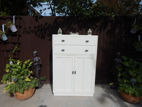 GORGEOUS-VINTAGE-TALLBOY-NURSERY-CUPBOARD-CHEST-OF-DRAWERS # # # SOLD # # #