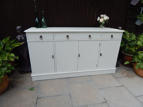 GORGEOUS LARGE VINTAGE SHABBY CHIC FRENCH COUNTRY STYLE SIDEBOARD # # # SOLD # # #