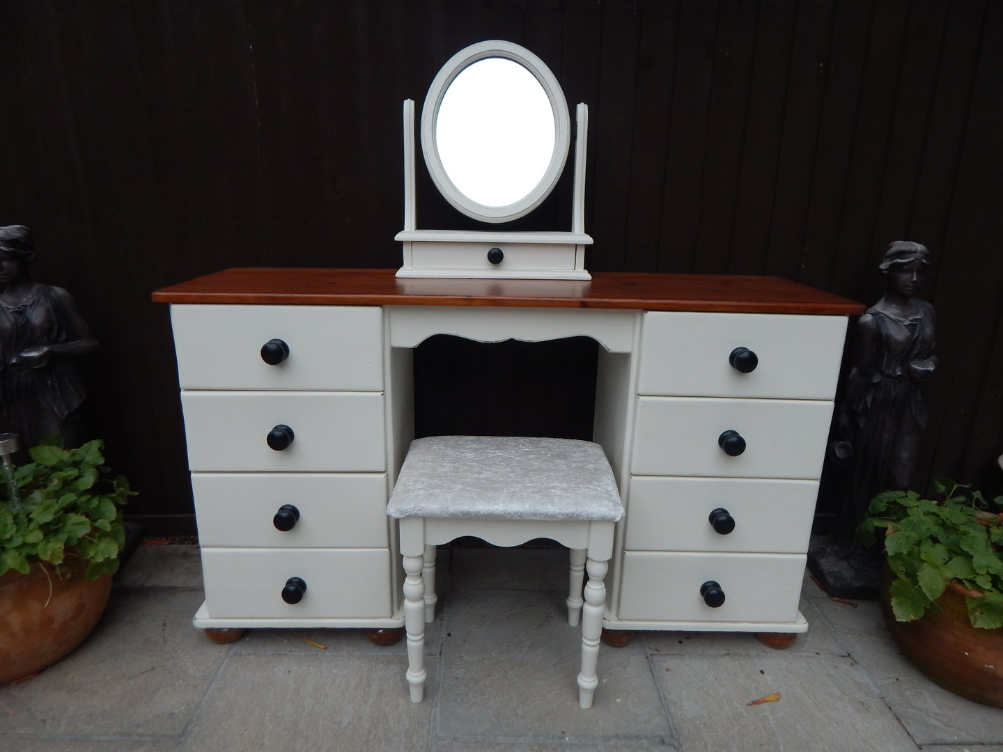 separation shoes 202cf 7c695 SOLID PINE , COUNTRY FARMHOUSE DRESSING TABLE , MIRROR ...