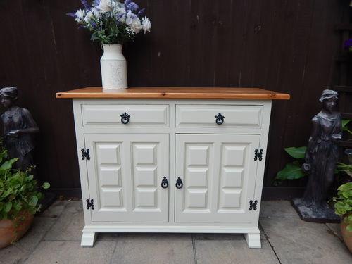 LOVELY VINTAGE PINE COUNTRY FARMHOUSE SIDEBOARD