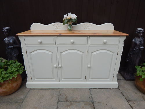 GORGEOUS VINTAGE PINE COUNTRY FARMHOUSE SIDEBOARD / DRESSER