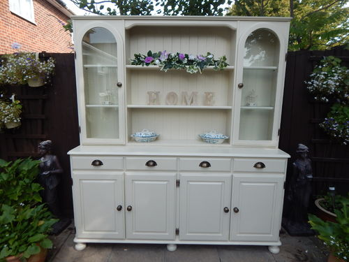 "LARGE VINTAGE PINE FARMHOUSE WELSH DRESSER MADE BY ""DUCAL"" # # # SOLD # # #"