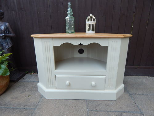 VINTAGE SOLID PINE CORNER TV STAND, ENTERTAINMENT UNIT # # # SOLD # # #