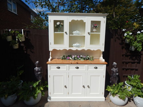 GORGEOUS HAND MADE VINTAGE PINE FARMHOUSE WELSH DRESSER # # # SOLD  # # #