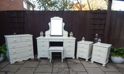Vintage Pine Dressing table set , Pair of Bedside cabinets & Chest of drawers# # # SOLD # # #